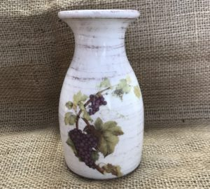 Brocca per vino in ceramica decorata – Quartino 0,25 litri