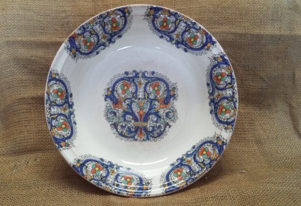 Ceramica Tiffany Civita Castellana.Servizio Piatti 18 Pezzi Decoro Melograno La Table