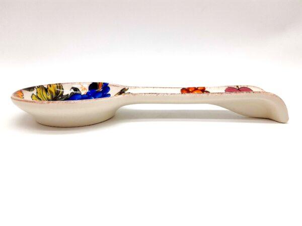 Poggiamestolo in ceramica decorato