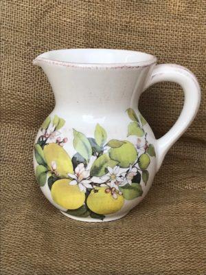Brocca ceramica decoro limoni made in italy