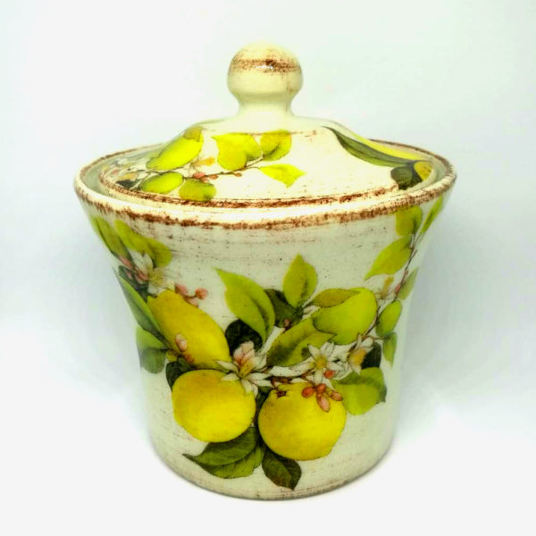 Zuccheriera in ceramica decorata