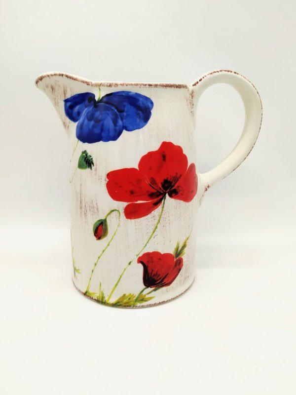 Brocca per acqua/vino in ceramica decorata – 1,5 Litri