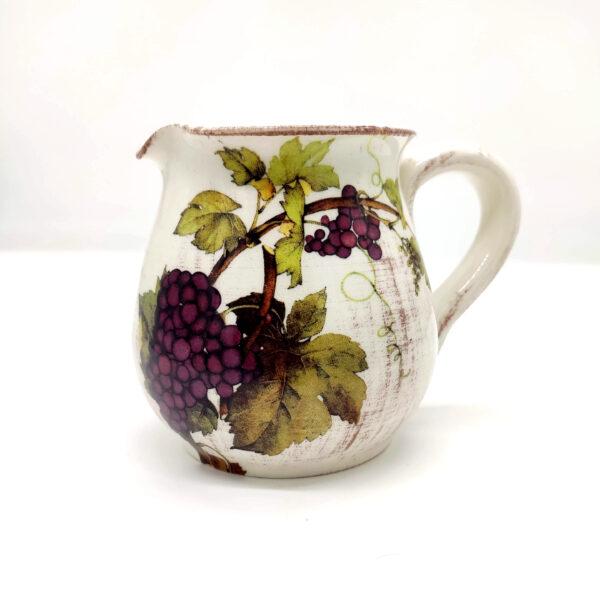 Brocca per acqua/vino in ceramica decorata – 0,5 Litri
