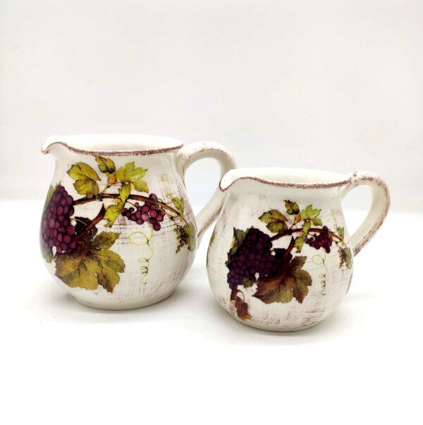 Brocca per acqua/vino in ceramica decorata – 0,25 Litri