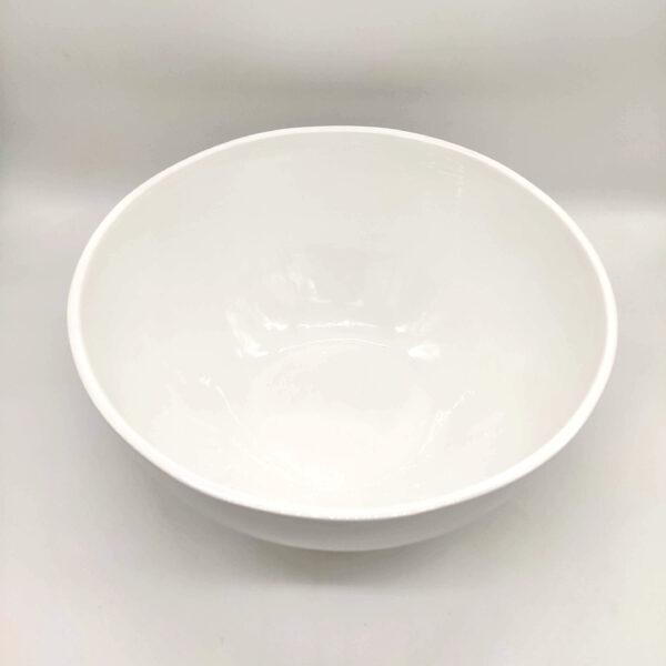 insalatiera bianca in ceramica made in italy