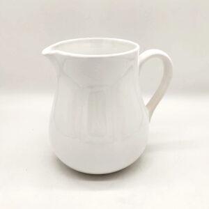 Brocca per acqua/vino da osteria in ceramica bianca – 1,5 Litri